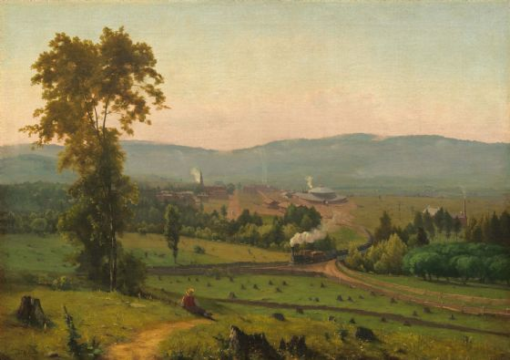 Inness, George: The Lackawanna Valley. Fine Art Print/Poster. Sizes: A4/A3/A2/A1 (004094)